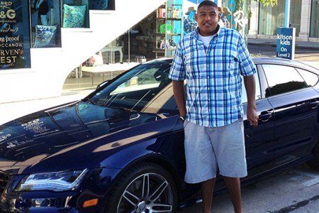 Actor Omar Miller and the Audi S7