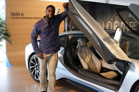 BMW & Patriots' Kyle Arrington Electrify Super Bowl XLIX