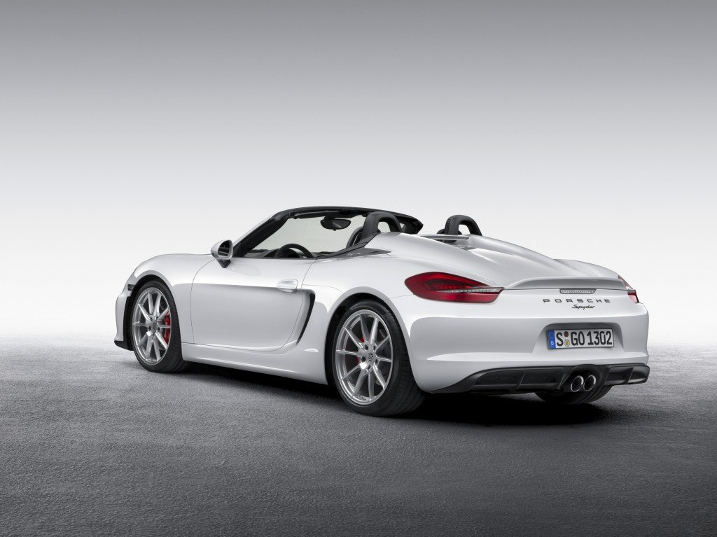 World premiere of the new Porsche Boxster Spyder