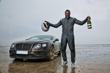 ACTOR IDRIS ELBA BREAKS HISTORIC 'FLYING MILE' RECORD IN BENTLEY