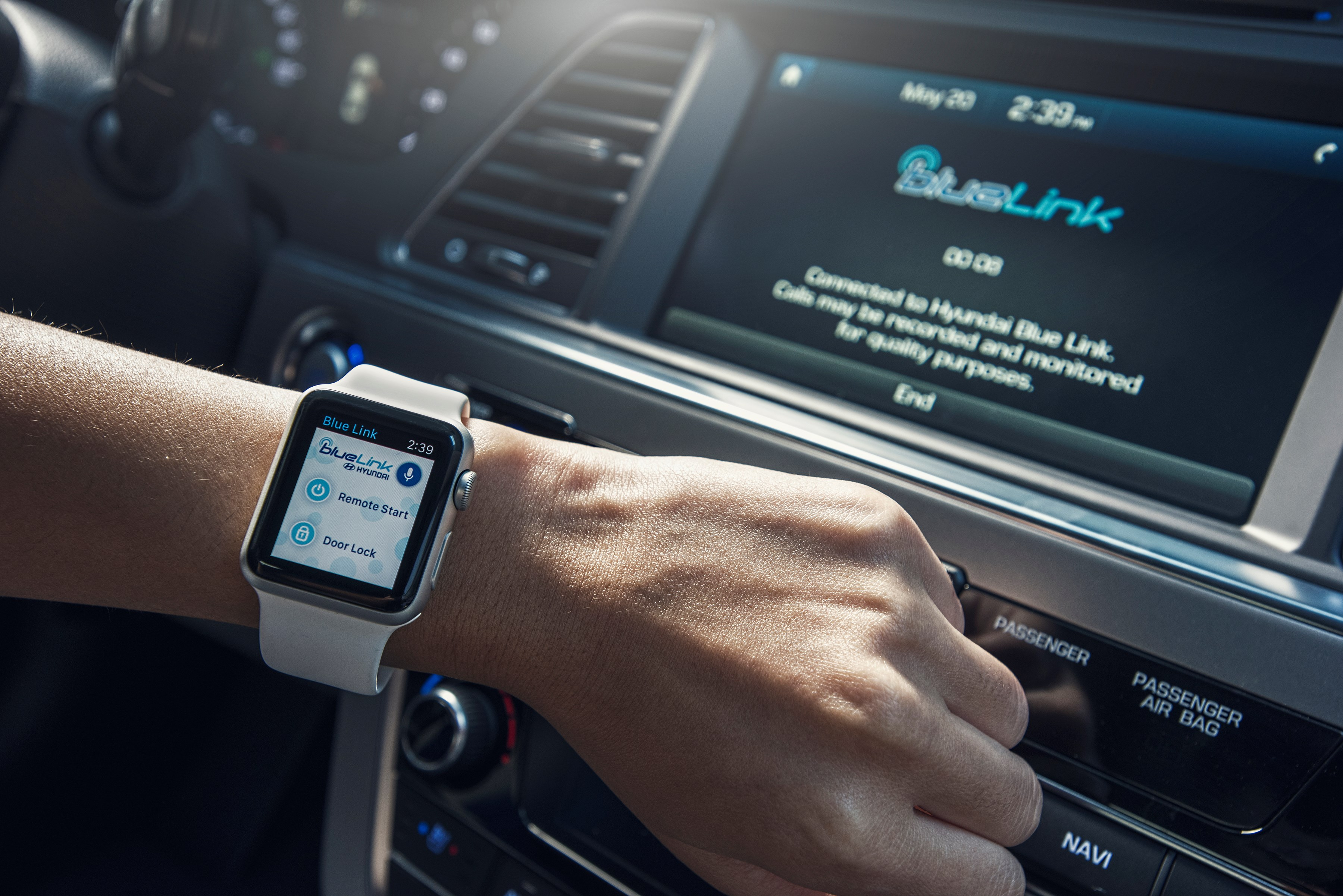 remote start your hyundai from apple watch via blue link automotive rhythms. Black Bedroom Furniture Sets. Home Design Ideas