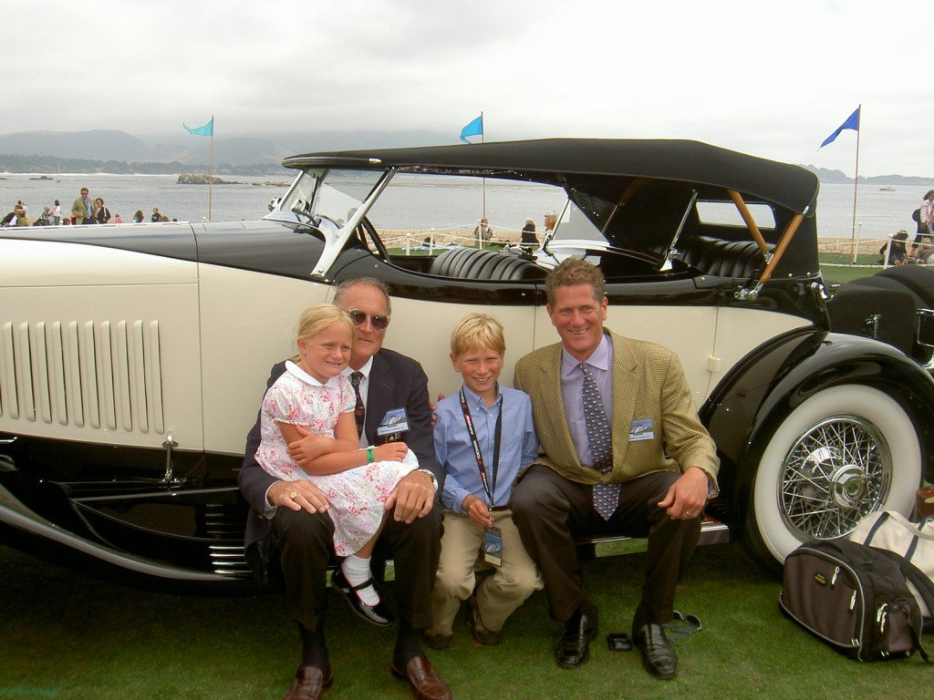 Riegel Family poses with their 1931 duPont Model H Sport Phaeton