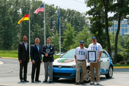 VW GOLF TDI ROUNDS LOWER 48 STATES ON LESS THAN $300 OF CLEAN DIESEL, SETS GUINNESS WORLD RECORDS