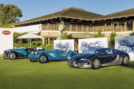 The Bugatti line-up in Pebble Beach: A Parade of Superlatives