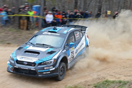 Subaru Rally Team USA Drivers Pastrana and Higgins Finish 1-2 at Rally in the 100 Acre Wood