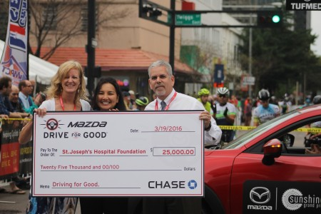 Mazda Drive For Good presents funds at Inaugural Running of the Sunshine Grand Prix