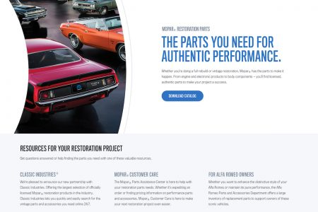 Mopar Announces New Restoration Parts Web Portal at 2016 SEMA Show
