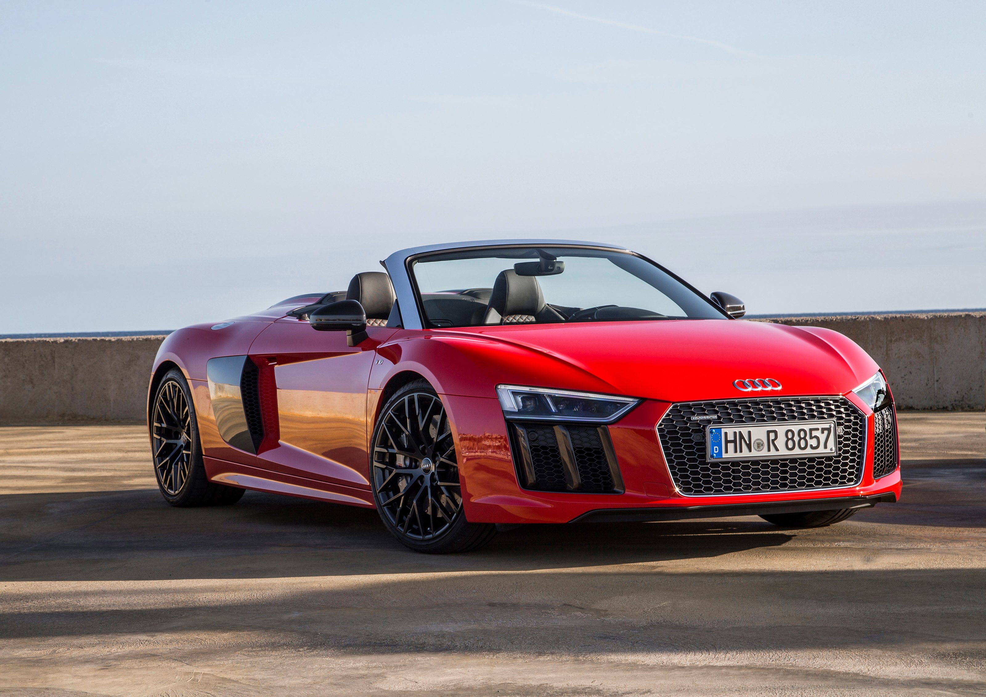 audi of america drops the top on the all new 2017 r8 v10 spyder