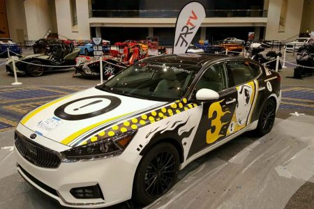 2017 Kia Cadenza Art Car: Where Technology Meets Graphic Design