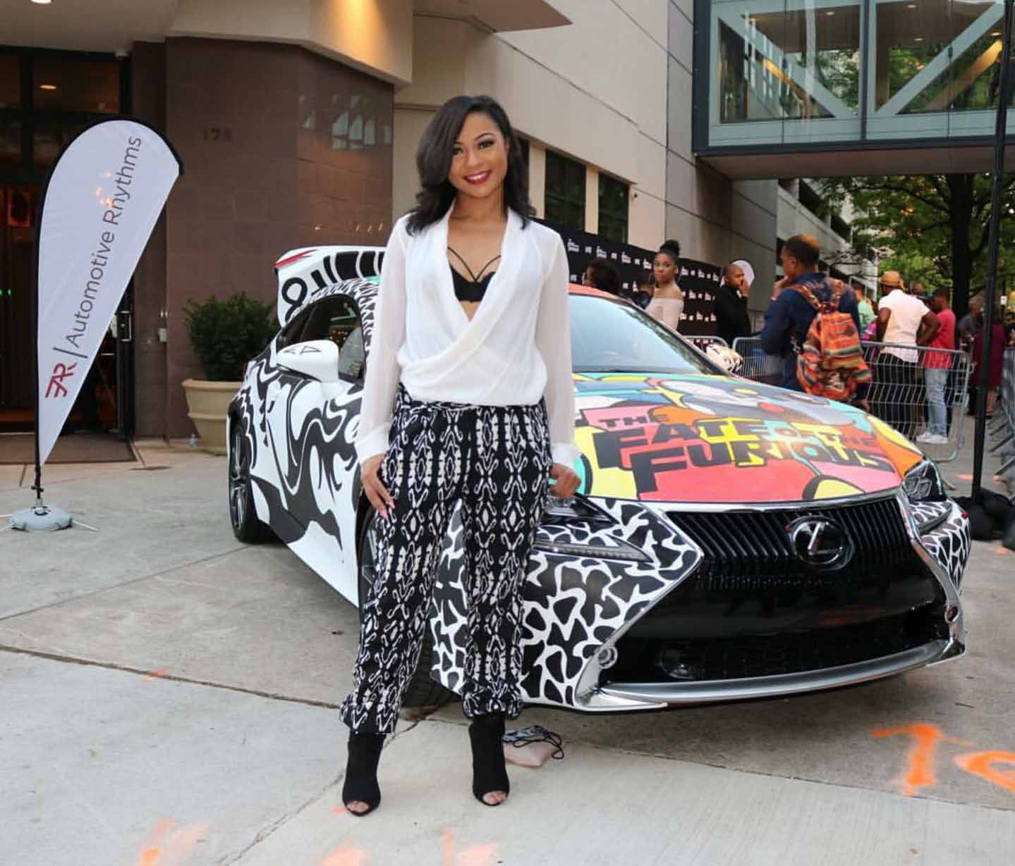 Ludacris Cars: THE FATE OF THE FURIOUS: Ludacris And Tyrese Celebrate