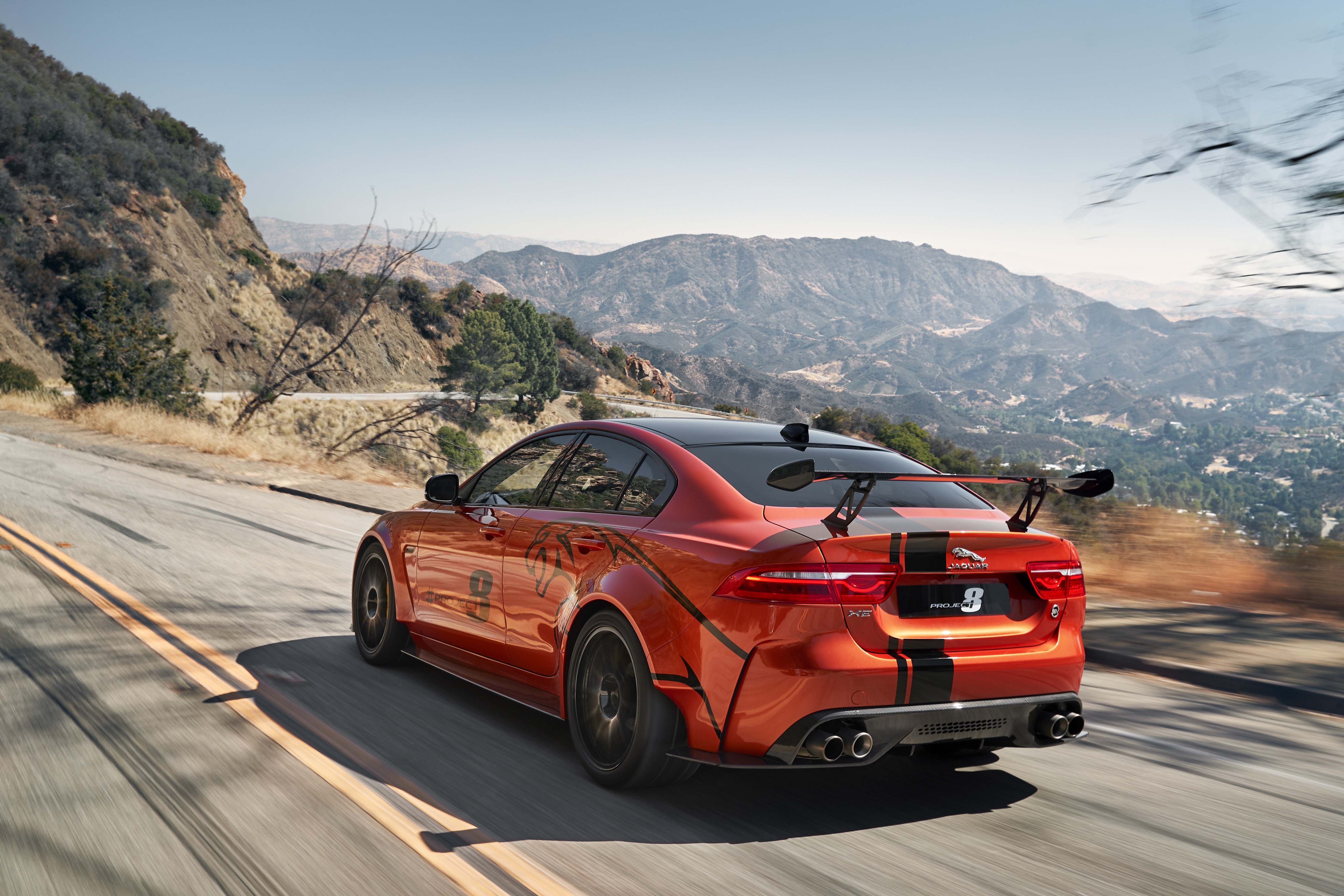 Jaguar xe sv project 8 a star is born automotive rhythms commencing with a lightweight compact and rigid aluminum body structure svo commissioned the jaguar with flared bodywork 20 forged aluminum alloy wheels malvernweather Gallery
