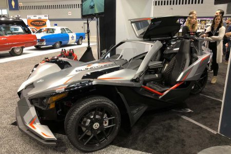 Polaris Slingshot Grand Touring LE at the 2018 Chicago Auto Show