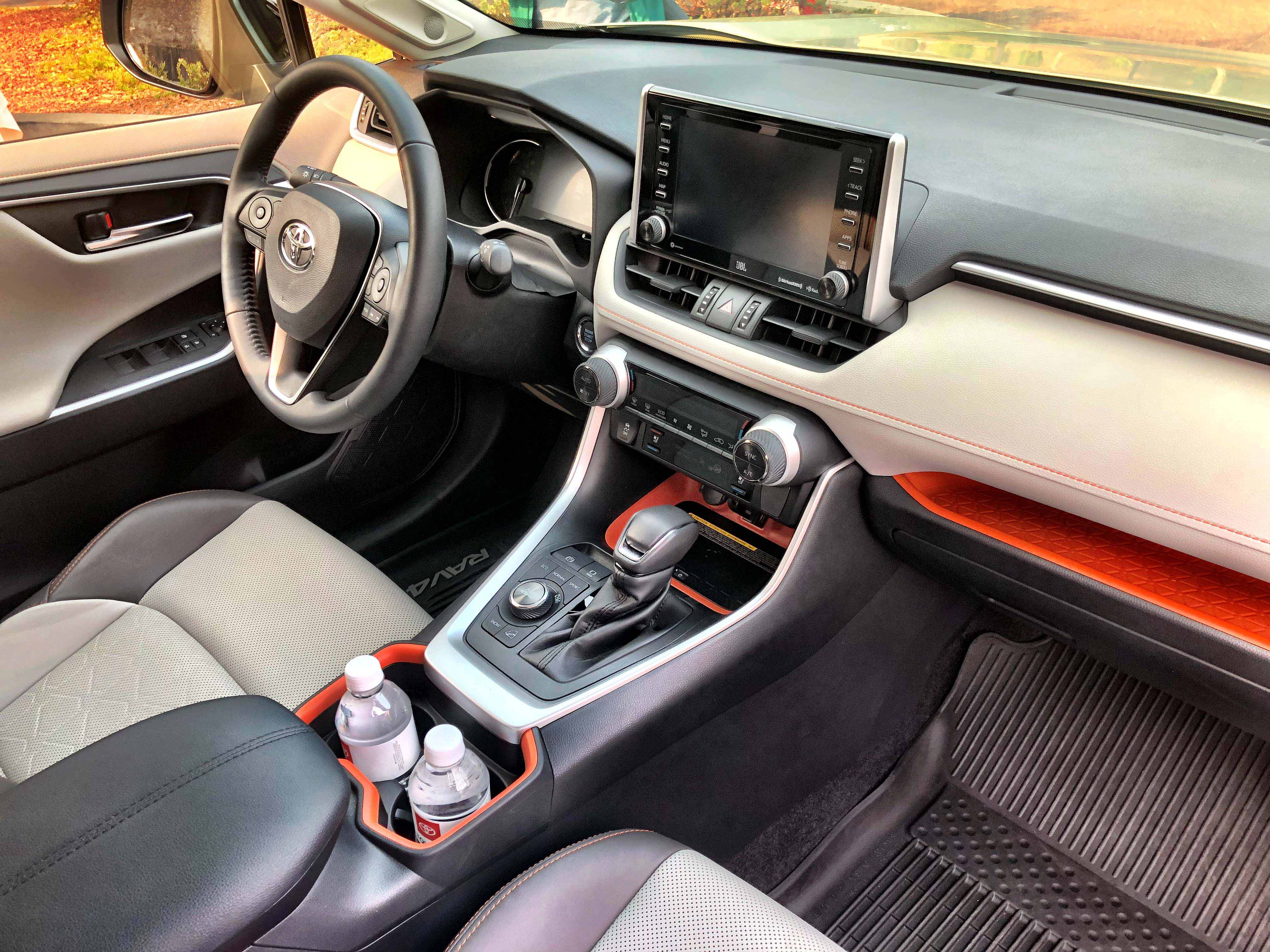 2019 Toyota Rav4 The Adventuring Family Ride Automotive Rhythms Digital Radar Speedometer Other Firsts Include Dual Chrome Exhaust Tips Available Rear Seat Vents And Optional View Mirror Which I First Experienced On A Cadillac