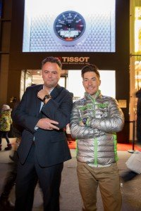 re-Nicky Hayden and Tissot U.S. Brand Manager, Justin Thompson Tissot Fifth Avenue Boutique