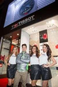 re-Nicky Hayden with Tissot Umbrella Girls Tissot Fifth Avenue Boutique