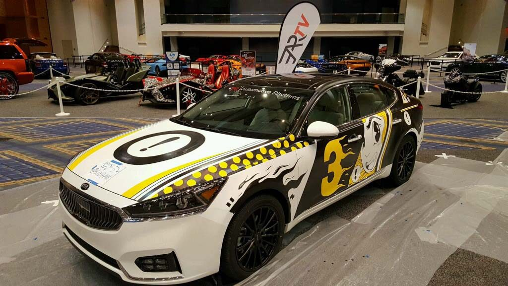 2017 Kia Cadenza Art Car Where Technology Meets Graphic Design